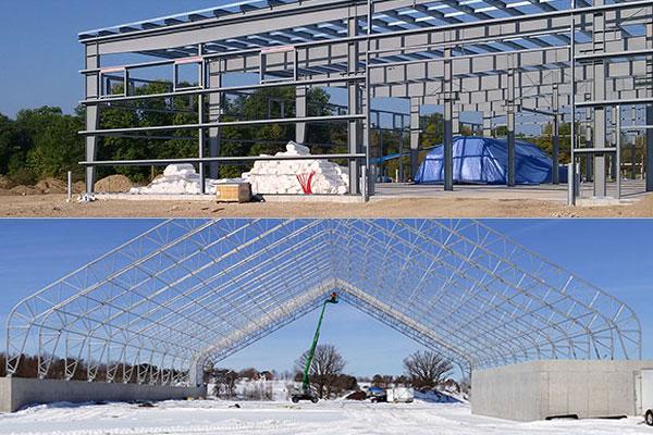 Steel Buildings - Rigid Steel Frame & Fabric Covered